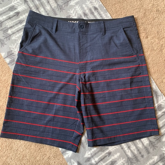 346f09f6bd Mossimo Supply Co. Swim | Mens Mossimo Navy Red Bathing Suit Shorts ...